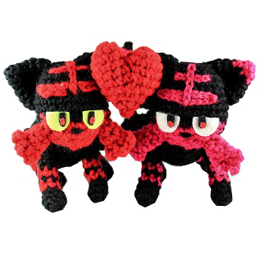 pokemon amigurumi Litten Couple