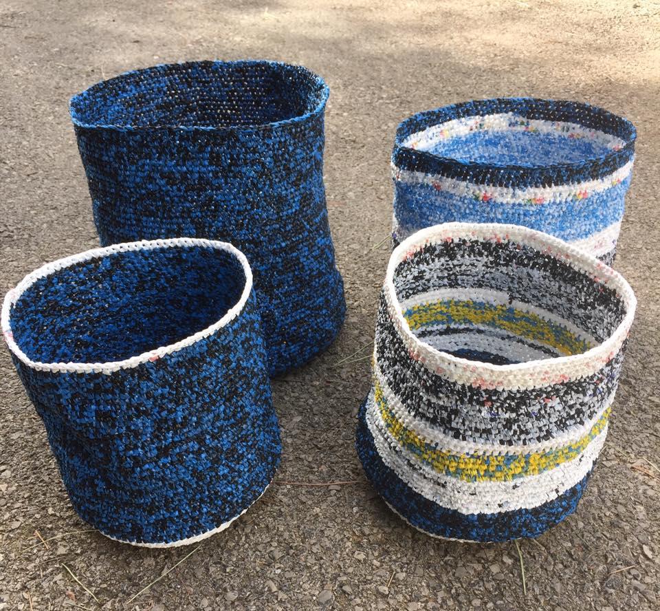 Jellyfish Plarn Baskets