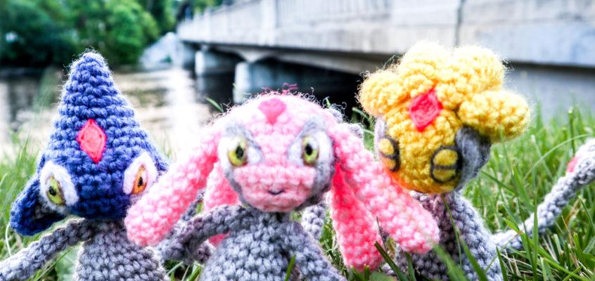 Uxie Mesprit and Azelf Crochet Amigurumi Patterns!