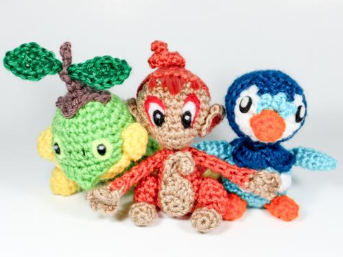 Crochet Sinnoh Starters