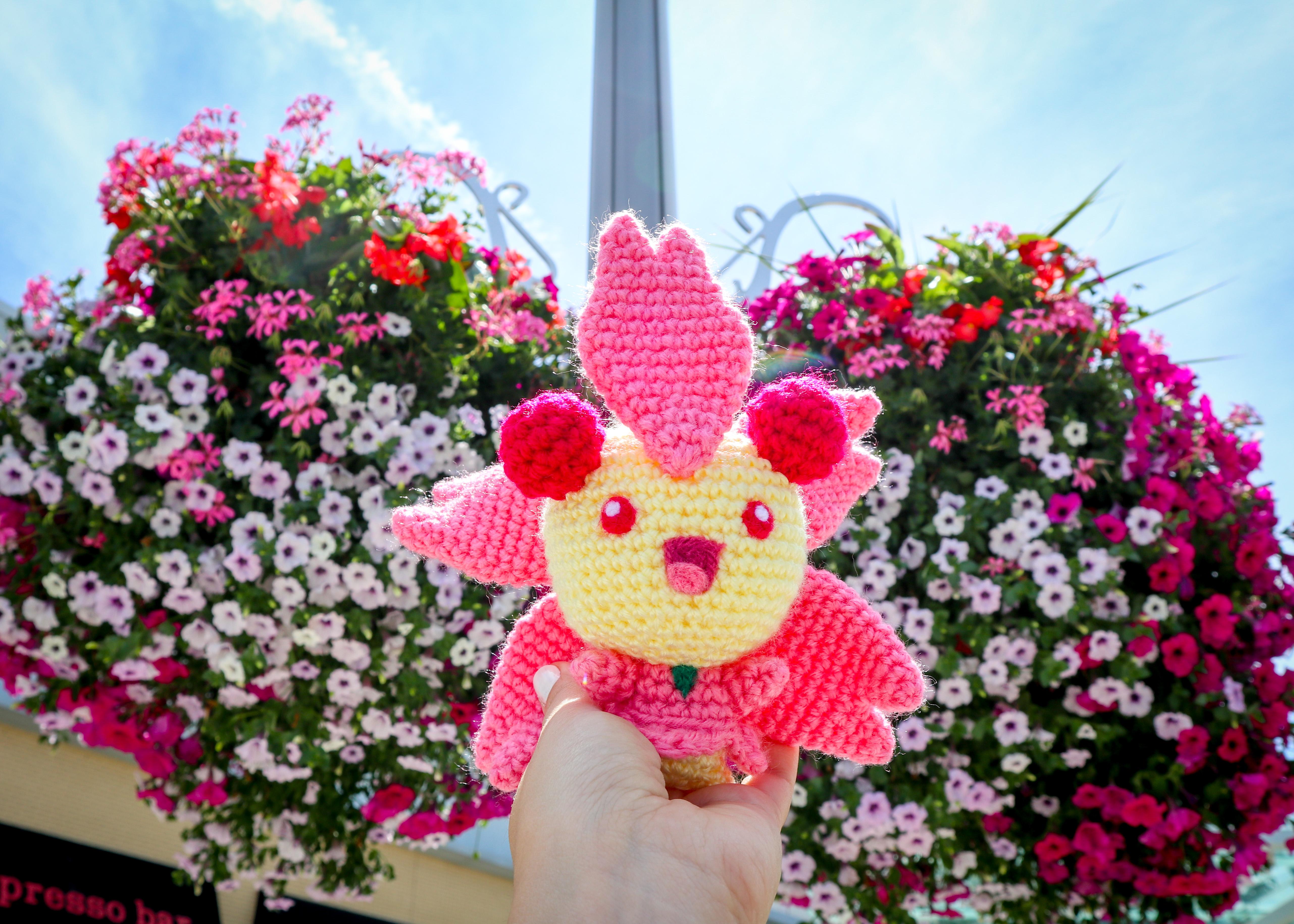 Cherrim Crochet Amigurumi