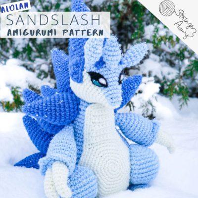 Alolan Sandslash Amigurumi – Premium PDF Crochet Pattern