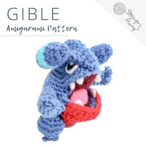 Pokemon Amigurumi Pattern – Gible