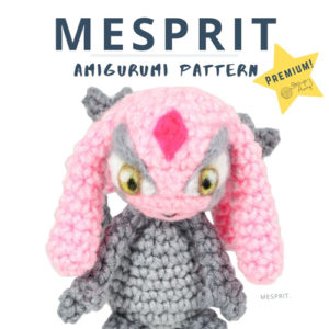 Mesprit Pokemon Amigurumi – Premium PDF Pattern