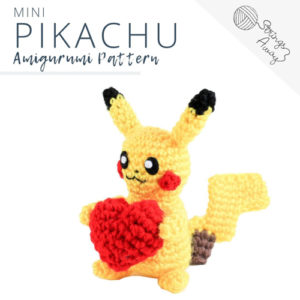 Pokemon Amigurumi Pattern – Pikachu (Mini)