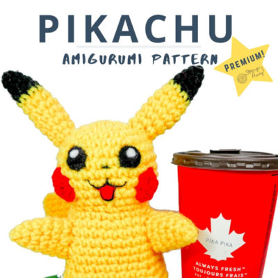 Jumbo Pikachu Amigurumi – Premium PDF Pattern