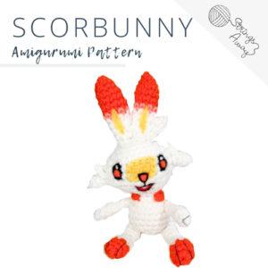 Pokemon Amigurumi Pattern – Scorbunny