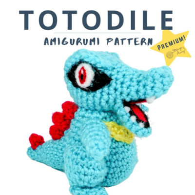 Totodile Amigurumi – Premium PDF Pattern