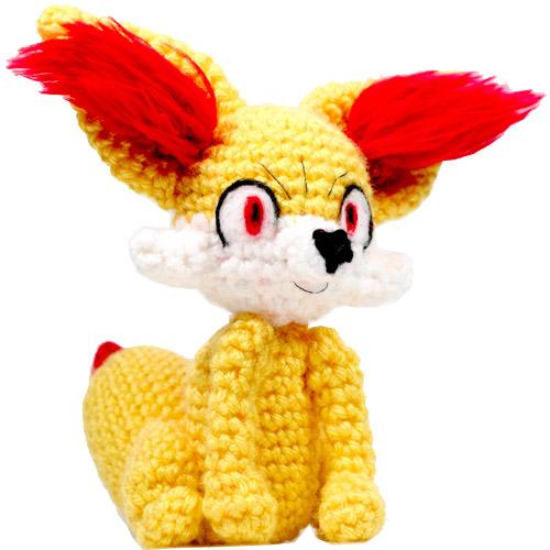 Fennekin Pokemon Amigurumi Pattern