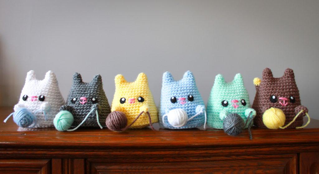 Crochet Dumpling Kitties