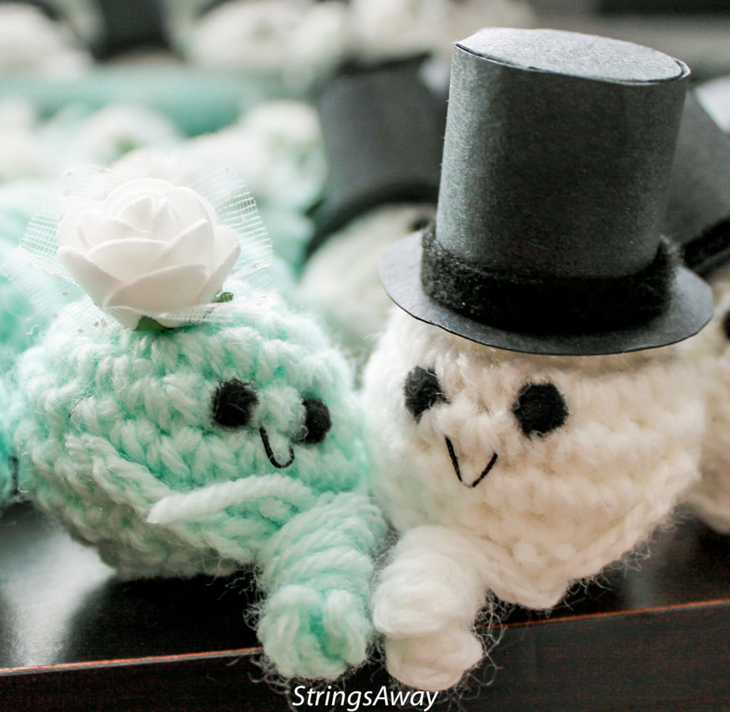 Mr and Mrs Crochet Wedding Favors